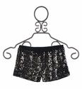 Flowers By Zoe Tween Black Shorts with Gold Sequins