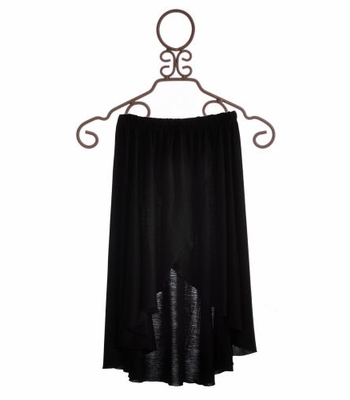 Flowers By Zoe Tween Black Wrap Skirt
