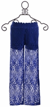 Flowers by Zoe Tween Blue Lace Pants