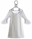 Flowers by Zoe Tween Circle Lace Dress in White