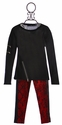 Flowers by Zoe Tween Designer Sweater with Leggings in Red
