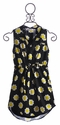 Flowers by Zoe Tween Dress Black with Daisy Print (Size MD 10 & L 10/12)