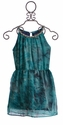Flowers by Zoe Tween Formal Dress with Jewels in Teal (Size LG 10/12)