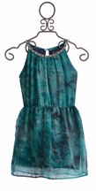 Flowers by Zoe Tween Formal Dress with Jewels in Teal (LG 10/12 & XL 12/14)