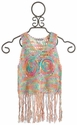 Flowers By Zoe Tween Fringe Crochet Top