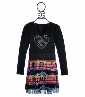 Flowers By Zoe Tween Fringe Dress Aztec Love