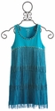 Flowers By Zoe Tween Girl Turquoise Fringe Tank Dress