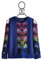 Flowers By Zoe Tween Girls Sweatshirt Chevron