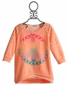 Flowers By Zoe Tween Girls Sweatshirt with Peace Symbol