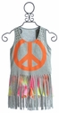 Flowers By Zoe Tween Grey Peace Short Set