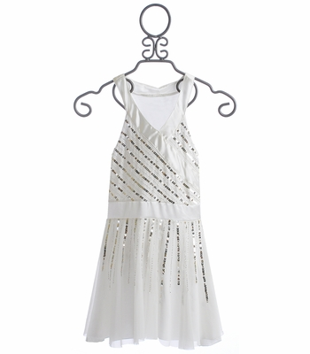 Flowers By Zoe Tween Ivory Party Dress Radiant Beading