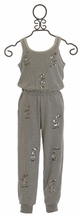 Flowers by Zoe Tween Jumpsuit with Sequin Cut Out Details (Size XL 12/14)