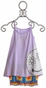 Flowers By Zoe Tween Lavender Tank with Crochet Shorts