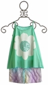 Flowers By Zoe Tween Mint Daisy with Lace Shorts Set (Size MD 10)
