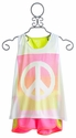 Flowers By Zoe Tween Neon Peace Short Set