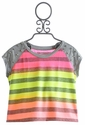 Flowers By Zoe Tween Neon Stripe Studded Top
