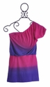 Flowers By Zoe Tween One Shoulder Dress in Purple