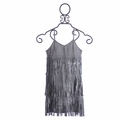 Flowers By Zoe Tween Party Dress Silver Fringe