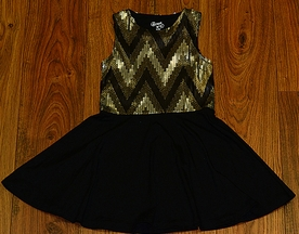 Flowers by Zoe Tween Sequin Dress in Gold