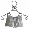 Flowers By Zoe Tween Silver Pleather Shorts with Studs (Size XL 12/14)