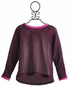 Flowers By Zoe Tween Sweater with Purple Chiffon