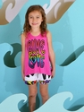 Flowers By Zoe Tween Tank and Shorts Graffiti Love