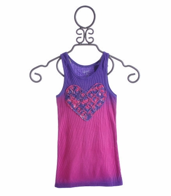 Flowers By Zoe Tween Tank with Crochet Purple Heart