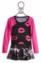 Flowers By Zoe Tween Top and Skirt Pink Lips