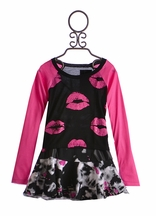 Flowers By Zoe Tween Top and Skirt Pink Lips (Size XL 12/14)