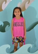 Flowers By Zoe Tween Top with Matching Shorts Hello Graffiti