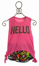 Flowers By Zoe Tween Top with Matching Shorts Hello Graffiti (MD10 & XL12/14)
