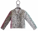 Flowers By Zoe White Leopard Print Tween Jacket