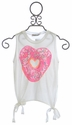 Flowers By Zoe White Tank Top for Tweens Donut Heart