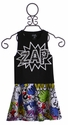 Flowers By Zoe Zap Top with Comic Book Skirt