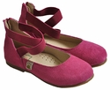 Foxpaws Fuchsia Suede Girls Flats