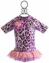 Frankie and Daisy Painted Pink Leopard Rash Guard Girls Swimsuit