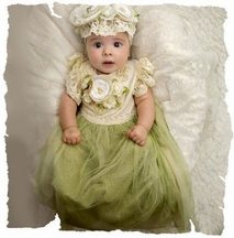 Frilly Frocks Gwendolyn Baby Gown
