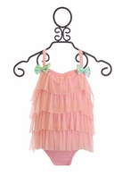 Frou Frou Coco Little Girls Swimsuit in Pink