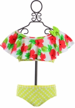 Frou Frou Girls Bikini in Red Floral