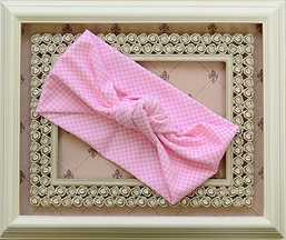 Frou Frou Girls Headband in Pink Gingham