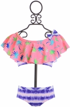 Frou Frou Ruffle Bikini for Girls in Tropical (2T,3T,4,6)