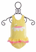 Funtasia Too Girls Bathing Suit Yellow Bee (18Mos,3T,4T,6)
