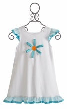 Funtasia Too Girls Coverup Dress with Flower (9Mos,18Mos,2T,6X)
