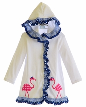 Funtasia Too Girls Hooded Coverup with Flamingos (18Mos & 4)