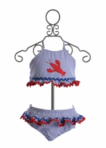 Funtasia Too Girls Lobster Swimsuit Two Piece (12Mos,4,5,6)