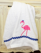 Funtasia Too Girls Towel with a Pink Flamingo