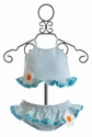 Funtasia Too Girls Two Piece Swimsuit with Flowers