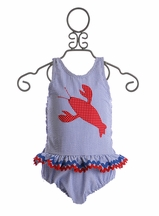 Funtasia Too Lobster Swimsuit One Piece for Girls