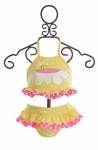 Funtasia Too Ruffle Two Piece Swimsuit for Girls in Yellow