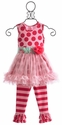 Giggle Moon Apple of My Heart Tutu Dress w/Ruffled Capri